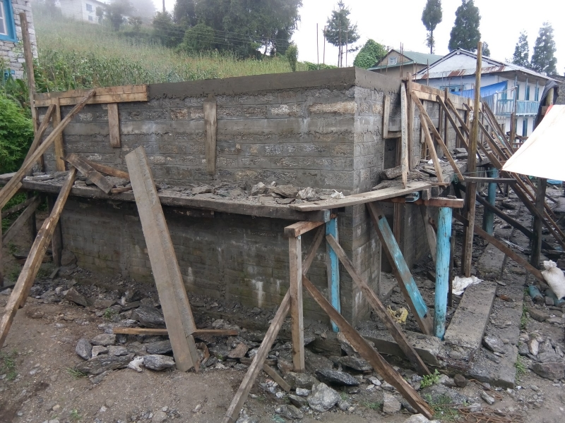 Dudhkoshi BS_wall completed