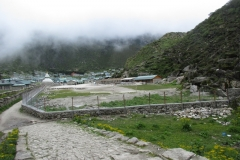 Khumjung SS_compound wall nearly completed