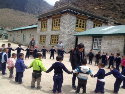 C:\Users\Himalayan Trust\Desktop\2016 HTN Report Materilas\2016 photos\Khumjung school, Pasang Doma sherpa, Teaching through play.JPG