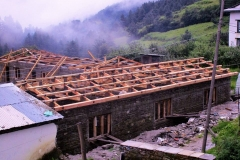 4. Junbesi SS-P wing-Roof truss erection_July