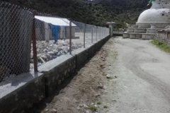 Khumjung SS_compound wall_finishing going on